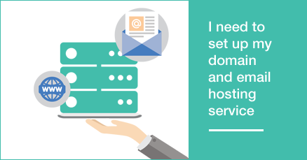 I need to set up my domain and email hosting service